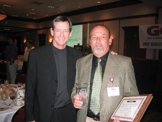 Ray and Hank Haney upon receiving GCA Clubmaker Of The Year Award